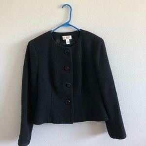 Talbots Petite Dress Jacket Black 12